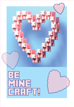 Minecraft Valentines day card (preview)